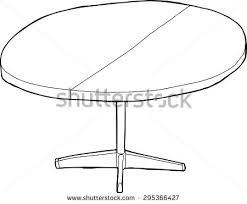 round table clipart black and white. one cartoon wooden round table with partition as outline clipart black and white