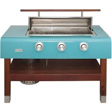 Rockwell By Caliber 60 Inch Propane Gas Grill On Wood Table