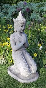 kneeling buddha stone statue large