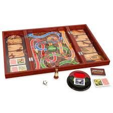 Real Wooden Jumanji Board Game Impressive Cardinal Games Jumanji Board Game In Wooden Case Walmart Exclusive