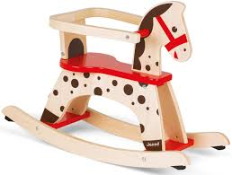 janod french rocking horse childkids wooden activity toy bnib