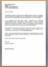 Free Simple Cover Letter Examples Mesmerizing Cover Letter Email Format Simple Resume Examples For Jobs
