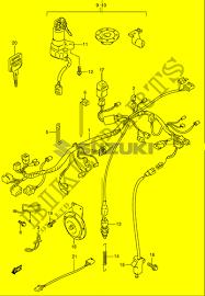 wiring harness gsk e k gsk e gs  wiring harness gs500k1 e2 k1 2001 motorcycle suzuki microfiche