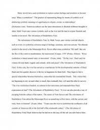 symbolism the adventures of huckleberry finn essays zoom