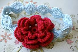 Crochet Flower Pattern For Headband Mesmerizing Photos Of Crochet Baby Headband With Flower Pattern Crochet Baby