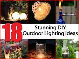 unique outdoor lighting ideas. 18 Eye Catching DIY Outdoor Lighting Ideas Unique U