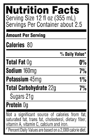 gatorade fruit punch sports drink nutrition facts