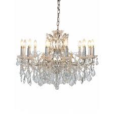 12 branch crystal chandelier silver