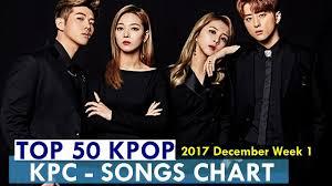 Top 50 Kpop Songs Chart December Week 1 2017 Kpop Chart Kpc
