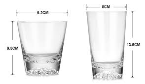 Drinking Glass Size Chart Us 8 5 40 Off Hot Sale Mount Fuji Cup Lead Free Crystal Cocktail Wine Glass Transparent Snow Mountain Beer Glasses 250ml 350ml Whiskey Cups In Wine