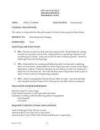Resume Job Description For Cashier