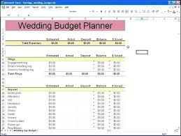 Excel Wedding Budget Template Club On Planner Bud Sheet
