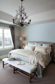 rubbed bronze chandelier oil bedroom traditional with beige carpet blue walls cotton crystal cassiel round drum