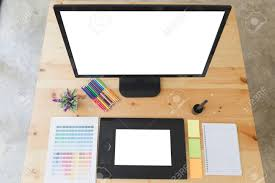Design Digital Catalog Desk Of Graphic Designer Artist At Work Digital Tablet Computer