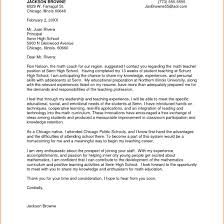 Cover Letter For High School Math Teaching Position Corptaxco Com