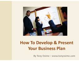 Developing Presenting Your Business Plan Powerpoint