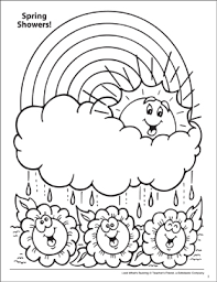 Look Whats Buzzing Coloring Page Spring Flowers Printable