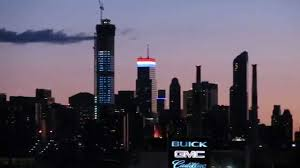 Bloomberg Building Lights New York Skyline On The 4th Of July Themed Building Lights And Fireworks