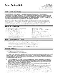 mechanical resumes