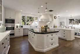 White Cabinets Brick Countertops Kitchen Black Granite Small Dark