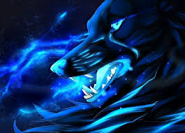 blue wolf background. Wonderful Wolf Dark Wolf On Blue Wolf Background