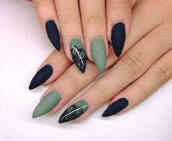 fashion black nails healthy winter nail art designs gel glitter green