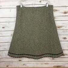 Boden Womens Size 16r Uk 12 Us Green Purple Tweed Wool Blend