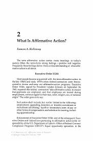 what is affirmative action springer inside