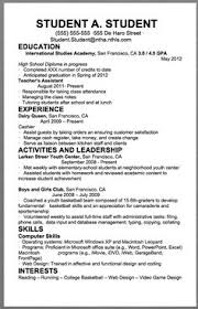 Sample Resume For College Student First Resume Template For Teenagers Teen Resume Sample For 15 And