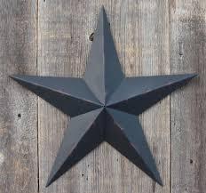 rustic black metal tin barn star made in the usa