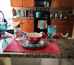 Pioneer Woman Kitchen Remodel Pioneer Woman Inspired Kitchen Turquoise And Red Polka Dots The