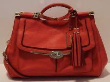 Coach Madison Pinnacle Carrie Kisslock Satchel Shoulder Bag Love Red 28220