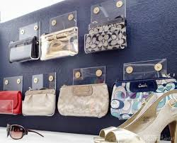 organize your closet in style with this pretty purse storage can you believe these acrylic