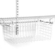 closetmaid white wire sliding basket