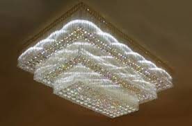 jhoomarwala customized square crystal chandelier