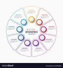 Circle Within Circle Chart 9 Parts Infographic Design Circle Chart