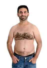 Percent of men with hairy chests