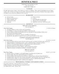 Nanny Resume Sample Templates Free Nanny Resume Templates Babysitter ...