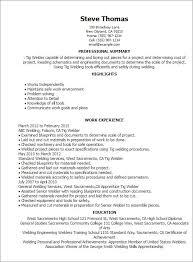 Welder Resume New Welder Resume Sample Welder Resume Templates Welder Resume X Welding