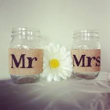 Decorating With Mason Jars And Burlap Tan Burlap Mr And Mrs Mason Jar Set Burlap Wedding Decorations 19