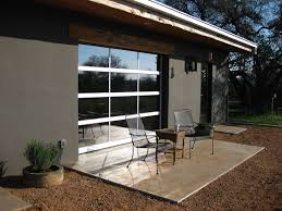glass garage door Los Angeles Gate Company outside patio glass