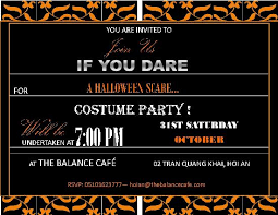 Invitation To The Halloween Costume Party In Hoi An At The Balance