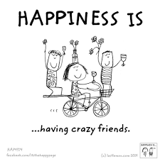 Happiness Is Having Crazy Friends Happiness Is Happy Quotes