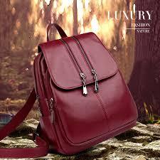 2019 Brand New Laptop <b>Backpack</b> Women <b>Leather Luxury</b> ...