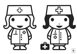 Kleurplaat Zoek De Verschillen Verpleegster Afb 21675 Images