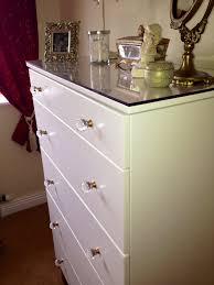 ikea hack tarva dresser diy. Ikea TARVA Chest Of 5 Drawers, My Hack Love The Glass Knobs *** Tarva Dresser Diy