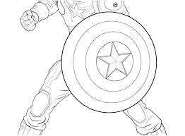 Coloring Pages Captain America Coloring Sheet Standing Still Pages