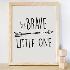 be brave little one print canvas wall art quote kids room decor nursery decor  on wall art sayings for nursery with be brave little one print canvas wall art quote kids room decor