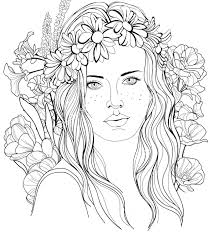 Adult Coloring Pages People Dark Detailed Free In Coloring Pages Of