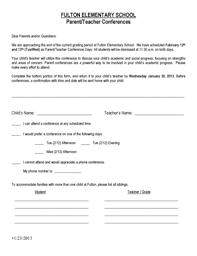parent conference template parent teacher conference template printable forms fillable